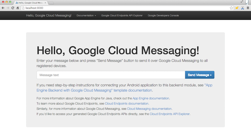 Google Cloud Messaging for Android (GCM) –